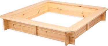 Smėlio dėžė Folkland Timber 003, 120x120 cm, su dangčiu