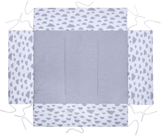 Lulando Playpen Mat For Children Grey With Dots/White With Clouds 75x100cm