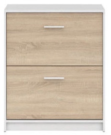 Batų spintelė Black Red White Nepo Plus White/Sonoma Oak, 700x275x840 mm
