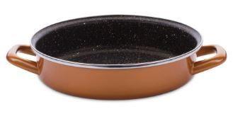 Delimano Round Fry Pan Stone Legend CopperLUX D24cm