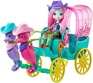 Mattel Enchantimals Seahorse Carriage Sandella Seahorse Doll & Playset FKV61