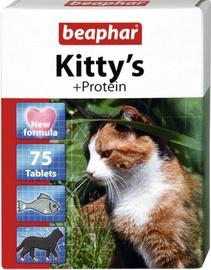 Пищевые добавки, витамины для кошек Beaphar Kittys With Protein 75 Tablets