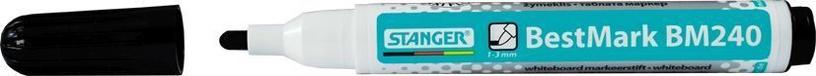 Baltās tāfeles marķieris Stanger BestMark BM240 Whiteboard Marker 10pcs Black 321091