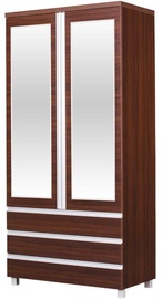 Bodzio Wardrobe with Mirrors AG40 Walnut