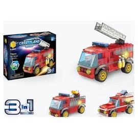 Конструктор Crystaland Fire Engine 3in1 99115, 73 шт.