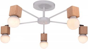 Candellux Ampio 35-56672 Ceiling Lamp 5x60W E27 White/Wood