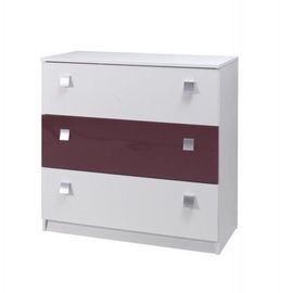 Maridex Lux Chest Of Drawers White/Purple