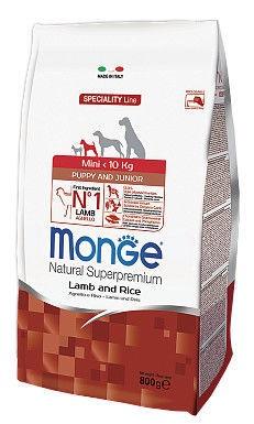 Monge Speciality Line Mini Puppy & Junior Lamb & Rice 800g