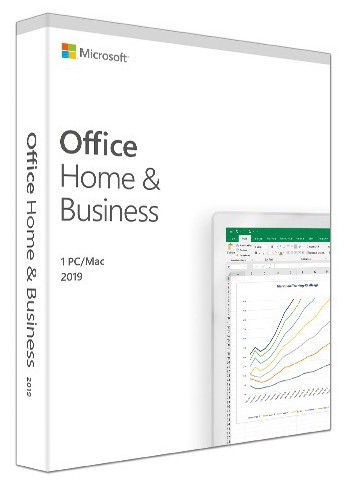 Microsoft Office Home and Business 2019 FPP Russian Medialess Box