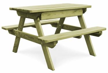 Садовый стол VLX Picnic Impregnated Pinewood 45148, зеленый, 90 x 90 x 58 см