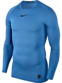 Nike Men's T-shirt Pro Top Compression LS 838077 412 Light Blue 2XL