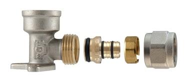 "Tvirtinamoji išardoma alkūnė, TDM Brass, 16 mm x 1/2"", su vidiniu sriegiu"
