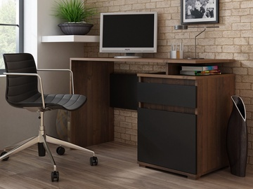 Rašomasis stalas Pro Meble Milano PKC 105 Walnut/Black