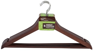 Home4you Wooden Hangers Brown 5pcs