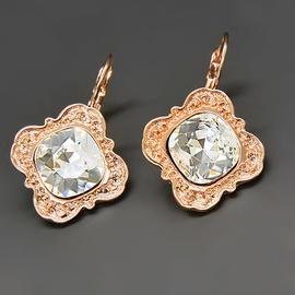 Diamond Sky Earrings With Crystals From Swarowski Nostalgia III Classic