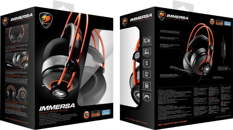Žaidimų ausinės Cougar Immersa Pro Black