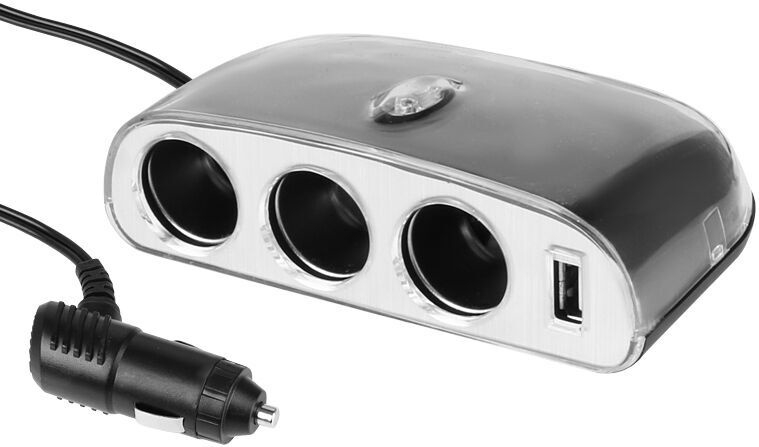 Адаптер Carmotion Distributor For Cigarette Lighter Socket Silver