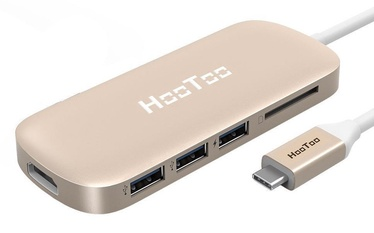 HooToo USB-C USB 3.0 HDMI SD Hub Gold