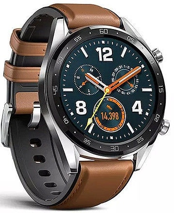 Huawei Watch GT Silver Leather Strap