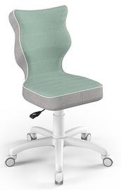 Детский стул Entelo Petit CR05, белый/зеленый, 300 мм x 775 мм