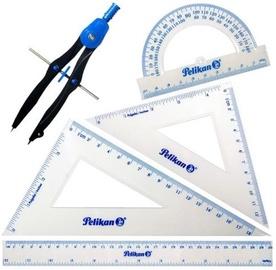 Sirkel Pelikan Geometric, läbipaistev/sinine