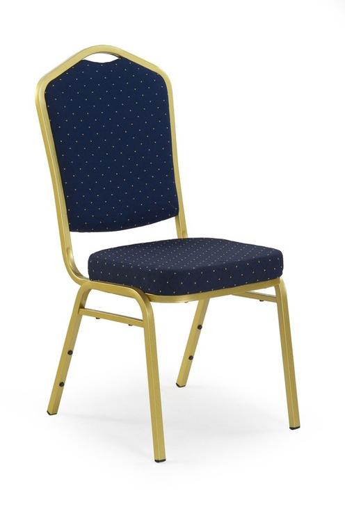 Стул для столовой Halmar K66 Blue/Gold