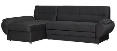 Stūra dīvāns Bodzio Livonia Fabric Dark Gray, kreisais, 248 x 155 x 89 cm