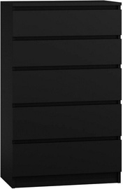 Top E Shop Malwa M5 Chest of 5 Drawers Black