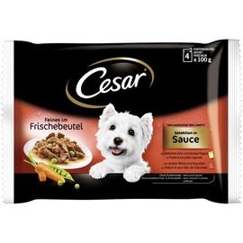 Konservuotas ėdalas šunims Cesar, su jautiena, 4 x 100 g
