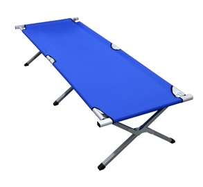 BESK Folding Bed 190 x 64 x 42cm Blue