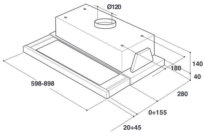 Встроенная вытяжка Whirlpool AKR 5390 IX