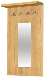 Bodzio Clothes Hanger With Mirror Panama Oak