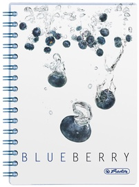 Herlitz Spiral Pad A5 Fresh Fruit Blueberry