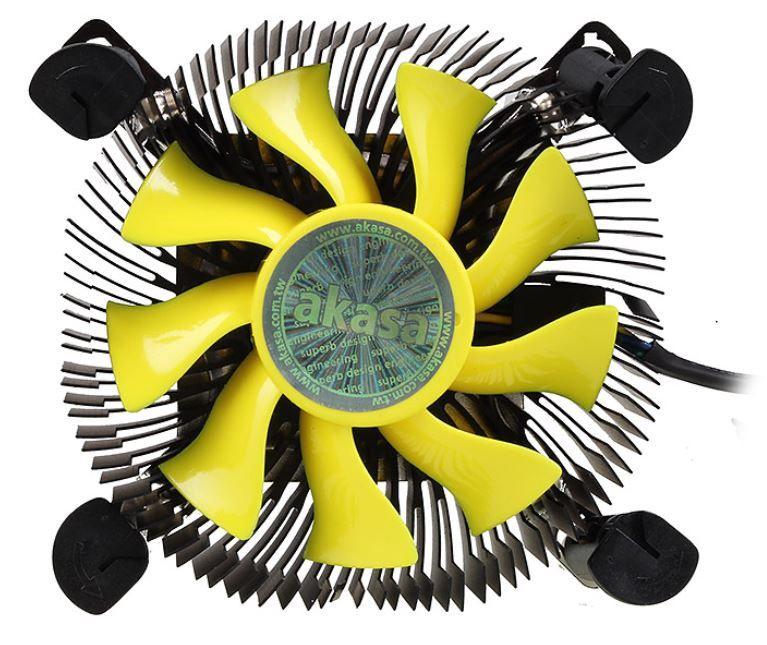 Akasa Fan AK-CC7118HP01 Yellow