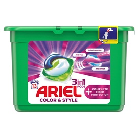 Skalbimo kapsulės Ariel Color&Style, 13 vnt.