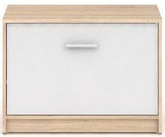Batų spintelė Black Red White Nepo Plus Sonoma Oak/White, 700x340x500 mm