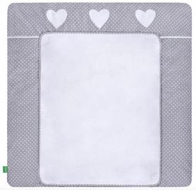 Lulando Changing Table Mat White Dots/Heart 75x85cm