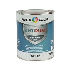 Universalūs kaldinto metalo efekto dažai Pentacolor, balti, 0.75 l