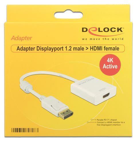 Delock Adapter Displayport 1.2 HDMI White