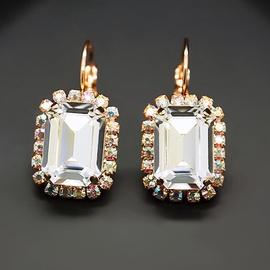 Diamond Sky Earrings With Crystals From Swarowski Lurdes II Classic