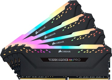 Corsair Vengeance RGB PRO Black 64GB 3000MHz CL16 DDR4 KIT OF 4 Series CMW64GX4M4C3000C15