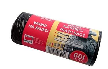 Vigo Trash Bags 60L 50pcs Black 9-04-100