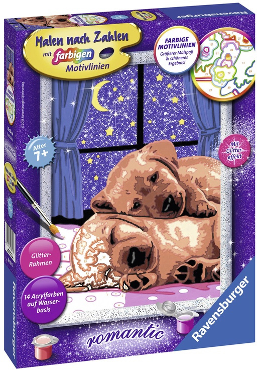 Ravensburger Painting By Numbers Romantic Cuddle Evening 286539