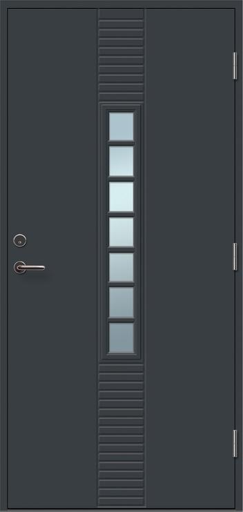 """Lauko durys """"Andre 7R"""", 21x9 dešininės, pilkos (RAL7016)"""