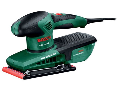 Elektrinis vibracinis šlifuoklis Bosch PSS 200 AC, 200 W