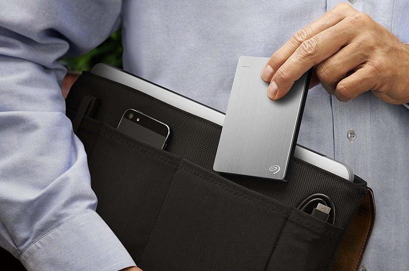 "Seagate 2.5"" Backup Plus Slim 1.5TB USB 3.0 Silver BULK STDR1500100"
