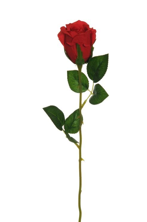Искусственный цветок Artificial Flower Rose Red 55cm 80-347992