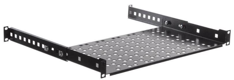Netrack Equipment Shelf 19'' 1U / 250 mm Black