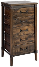 Home4you Chest Of Drawers OPUS 49x39x91cm Brown/Black