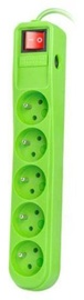 Natec Surge Protector 5 Outlet Green 1.5m